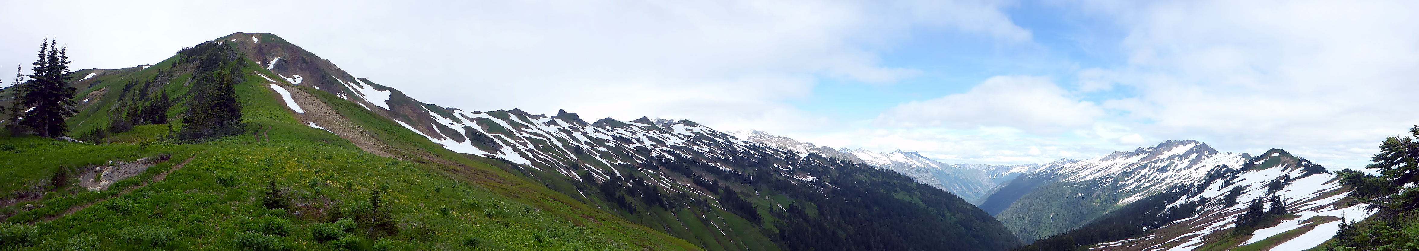 Pano toward Glacier Peak from White Pass